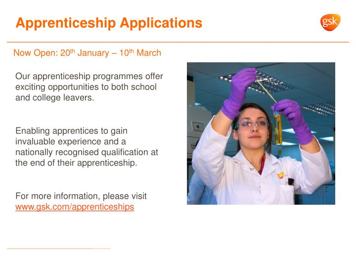 Apprenticeship applications