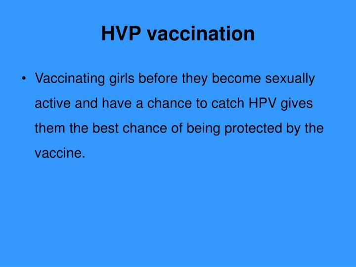 HVP vaccination