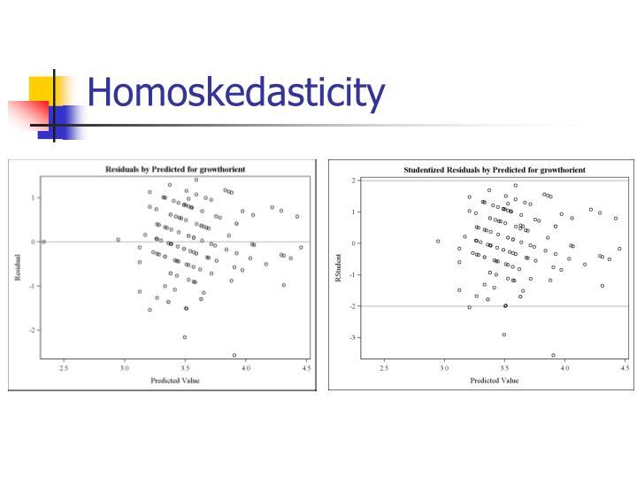 Homoskedasticity