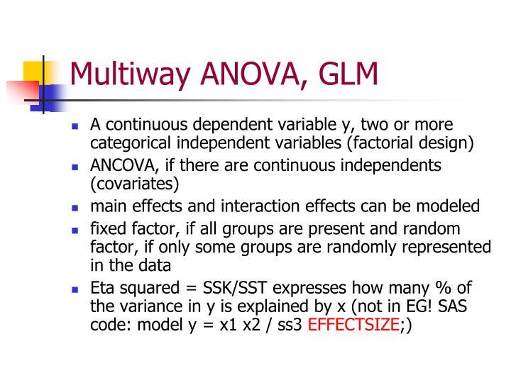 Multiway ANOVA, GLM