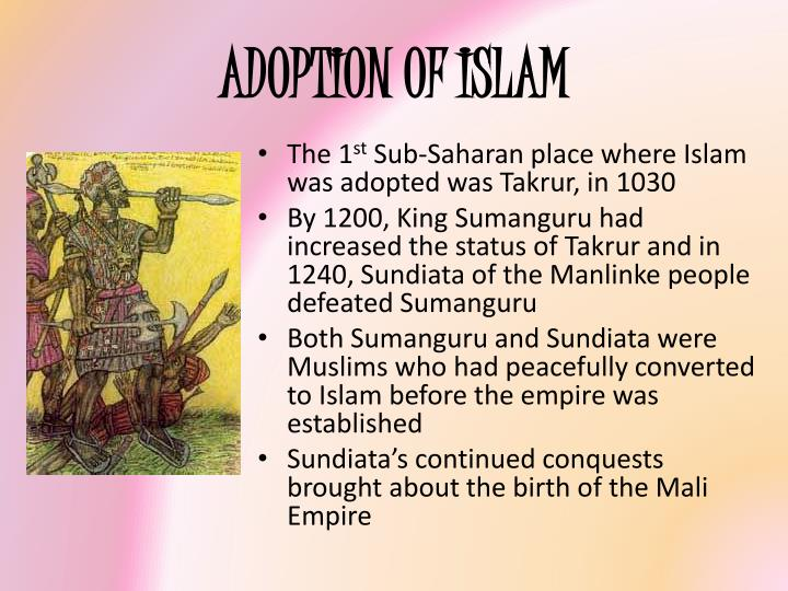 ADOPTION OF ISLAM