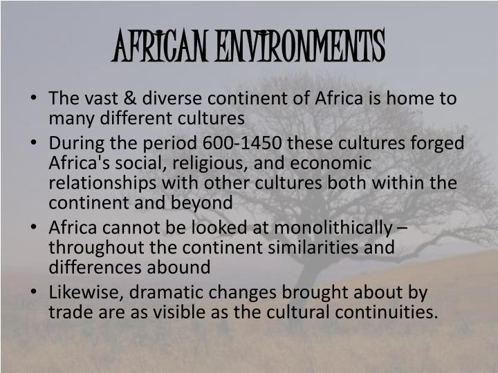 African environments