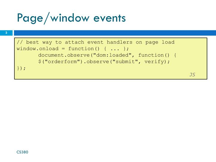 Page window events1