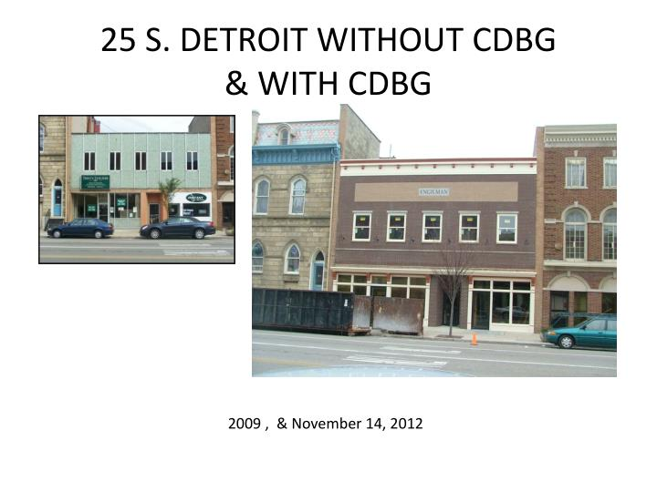 25 S. DETROIT WITHOUT CDBG