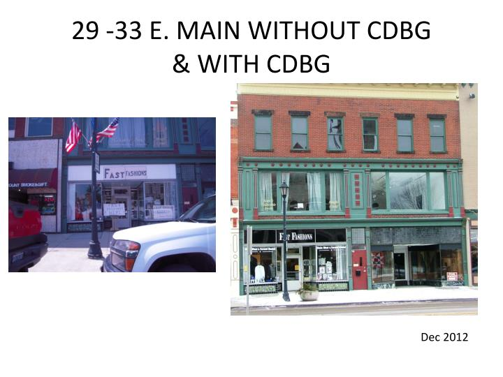 29 -33 E. MAIN WITHOUT CDBG