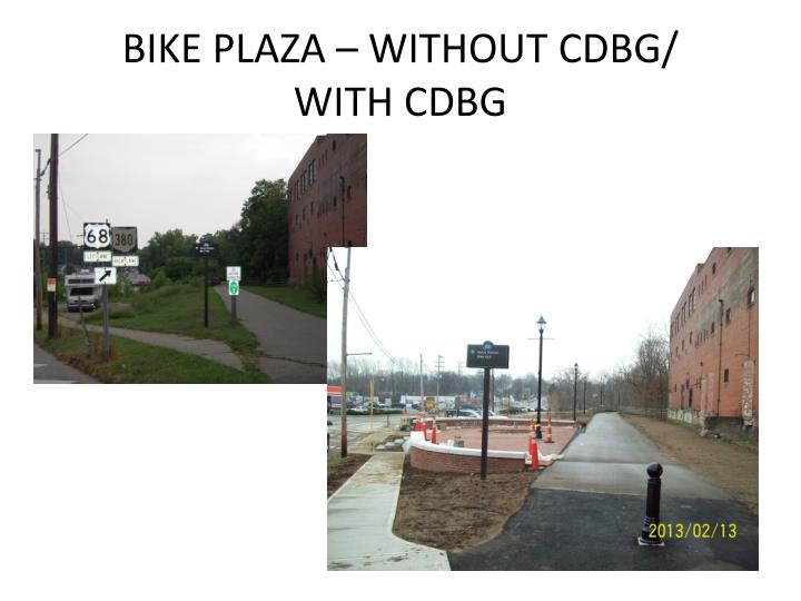 BIKE PLAZA – WITHOUT CDBG/