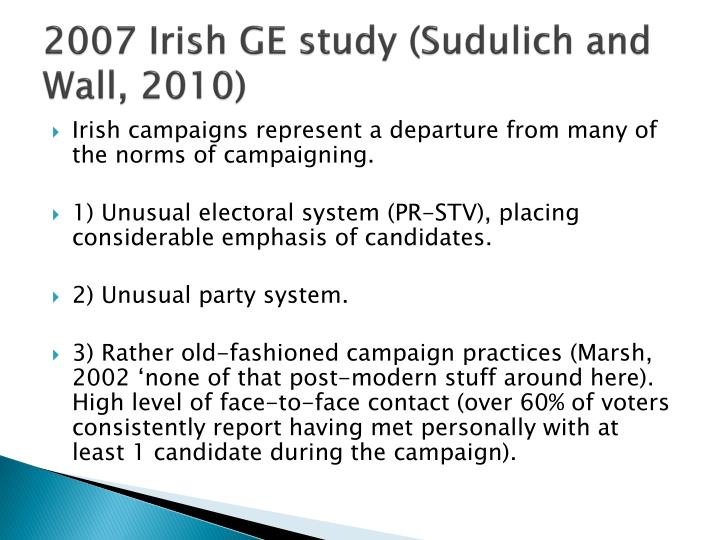 2007 Irish GE study (