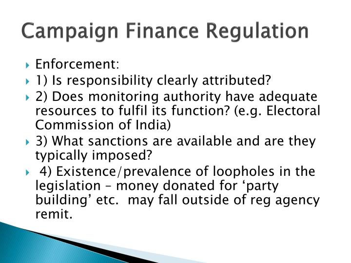 Campaign Finance Regulation