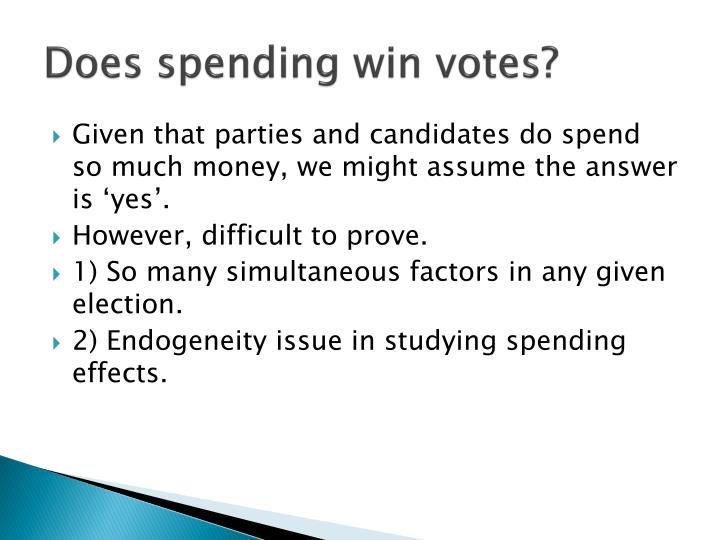 Does spending win votes?