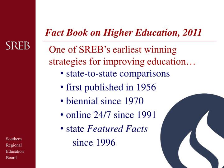 Fact Book on Higher Education, 2011
