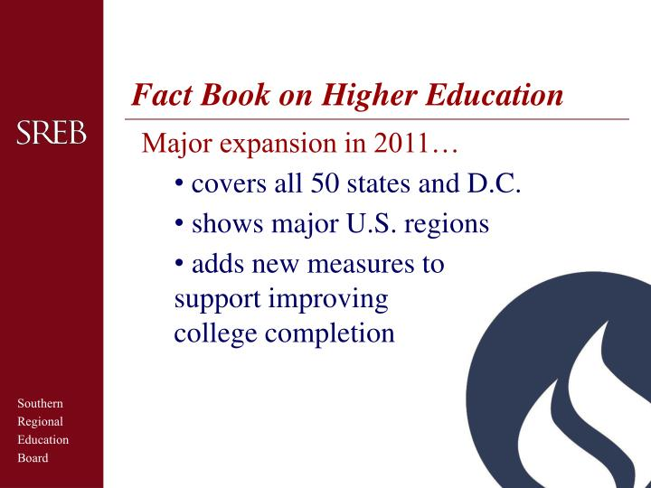 Fact Book on Higher Education