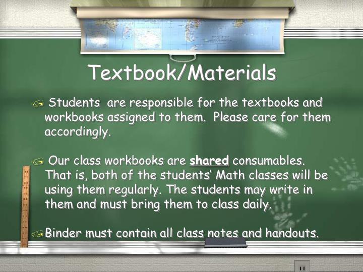 Textbook/Materials