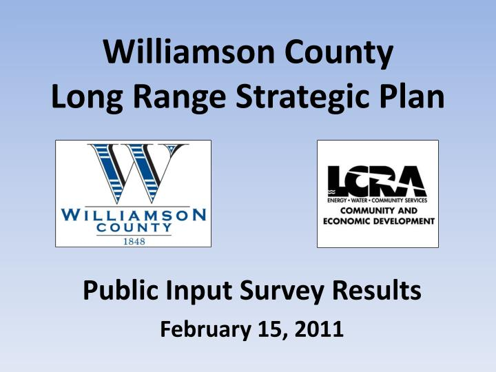 Williamson county long range strategic plan