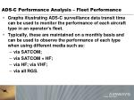 ads c performance analysis fleet performance