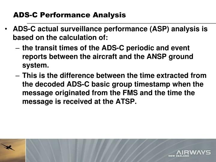 ADS-C Performance Analysis