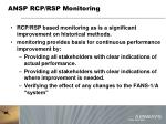 ansp rcp rsp monitoring