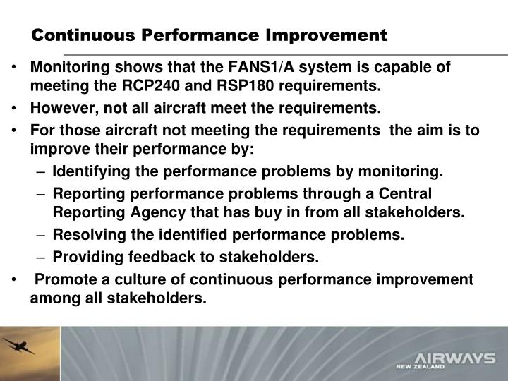 Continuous Performance Improvement