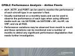cpdlc performance analysis airline fleets