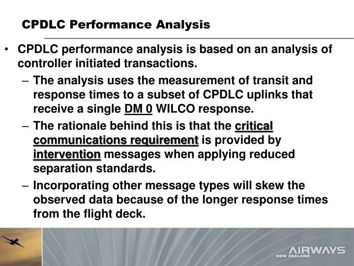 CPDLC Performance Analysis
