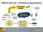 fans1 a data link performance based system