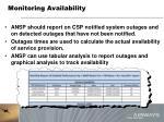 monitoring availability