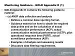 monitoring guidance gold appendix d 1