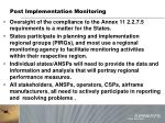 post implementation monitoring