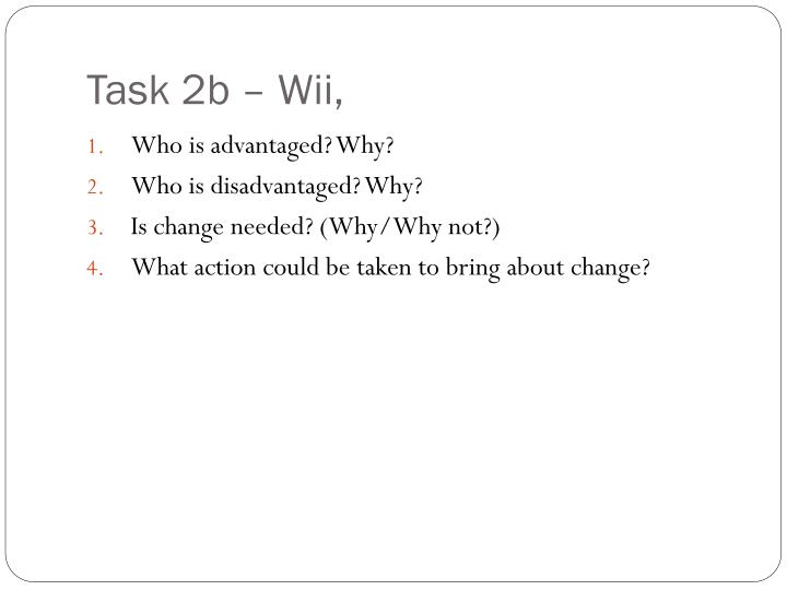 Task 2b – Wii