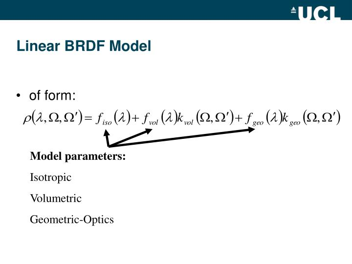 Model parameters: