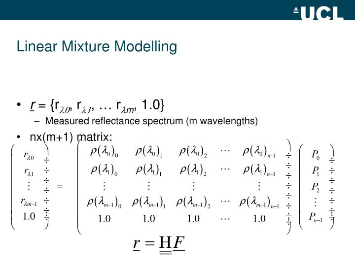 Linear Mixture Modelling