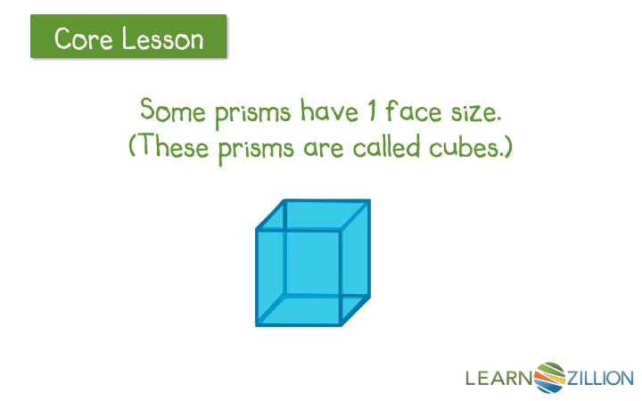 Some prisms have 1 face size.