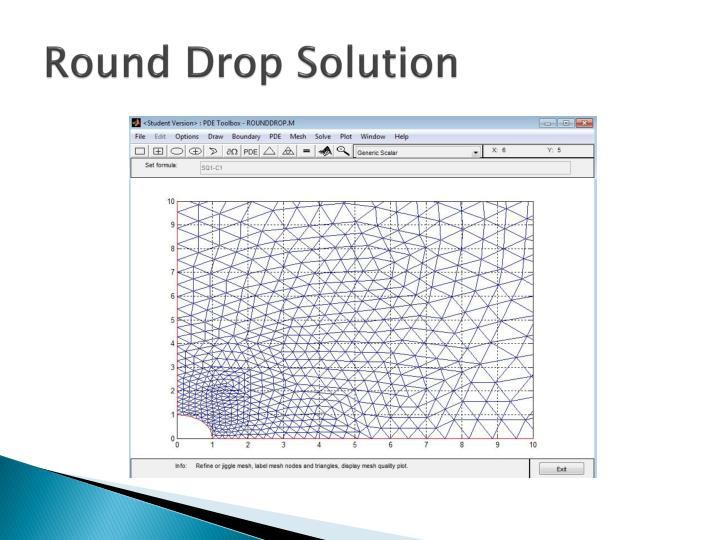 Round Drop Solution
