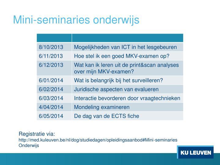 Mini-seminaries onderwijs