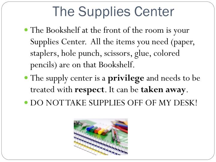 The Supplies Center