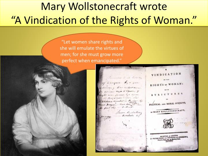 Mary Wollstonecraft wrote
