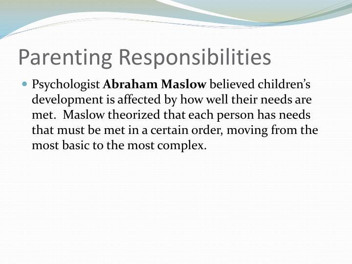 Parenting Responsibilities