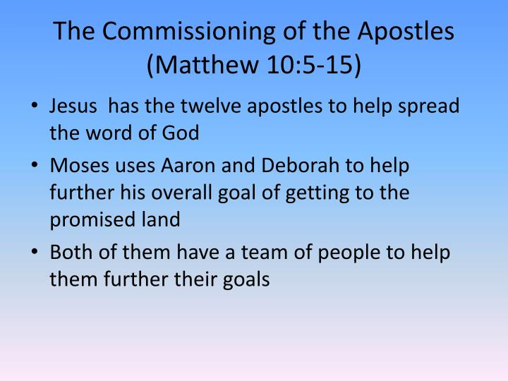 The Commissioning of the Apostles