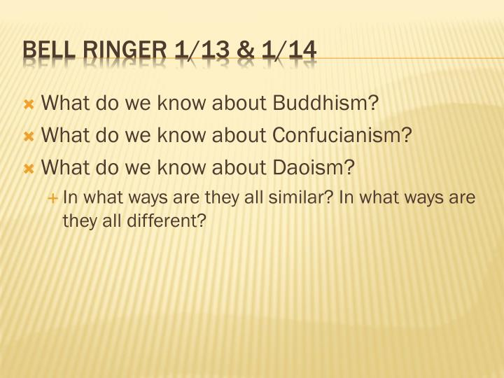 What do we know about Buddhism?