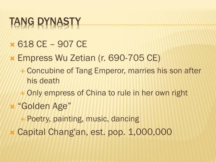 618 CE – 907 CE