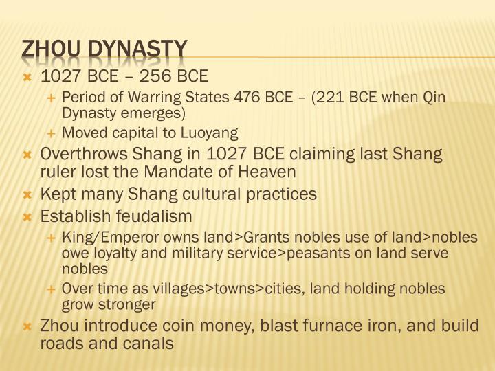 1027 BCE – 256 BCE