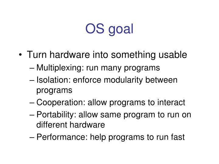 OS goal