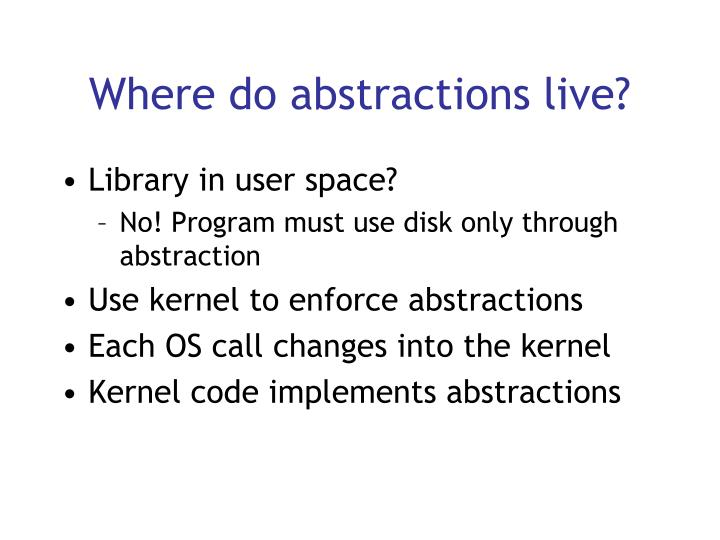 Where do abstractions live?