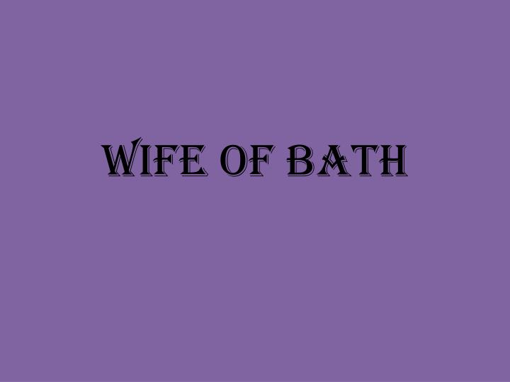 Wife of bath