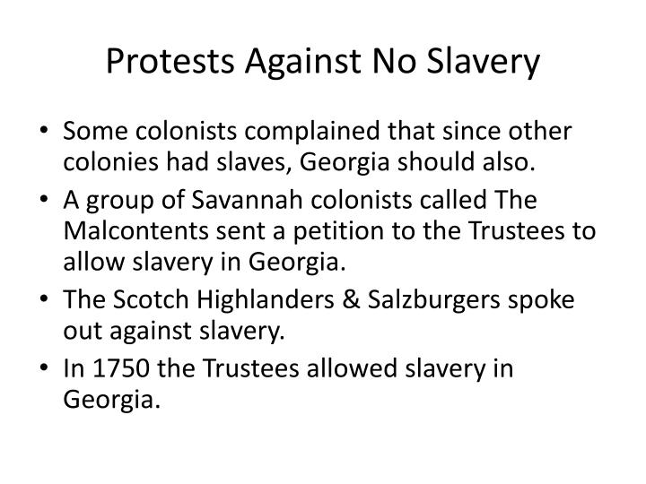 Protests Against No Slavery