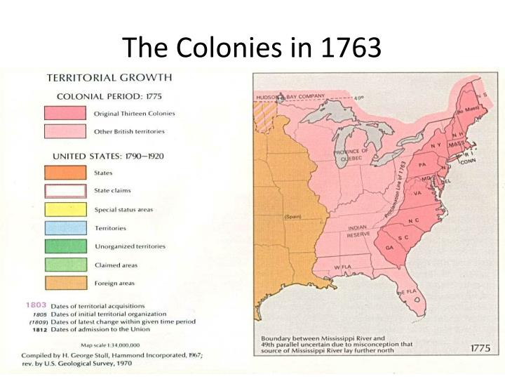 The Colonies in 1763