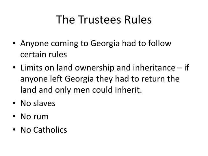 The Trustees Rules