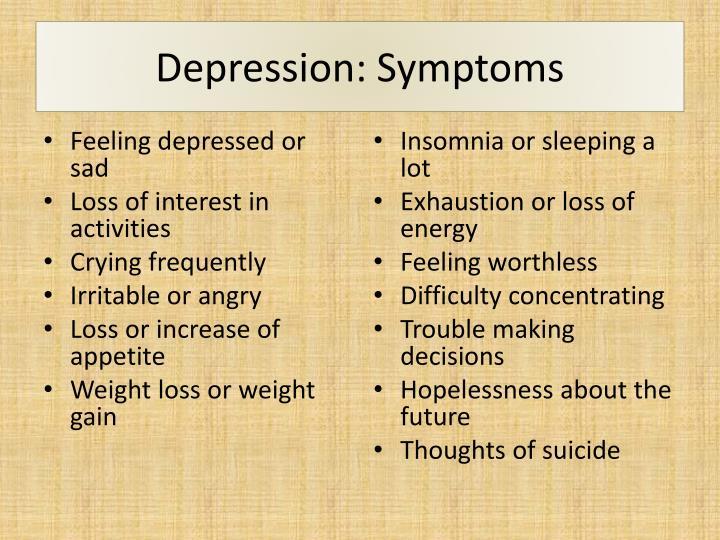 the symptoms detection and prevention of depression This brochure describes the signs, symptoms, and treatment options for depression in older adults depression: what you need to know : this booklet contains information on depression including signs and symptoms, treatment and support options, and a listing of additional resources.