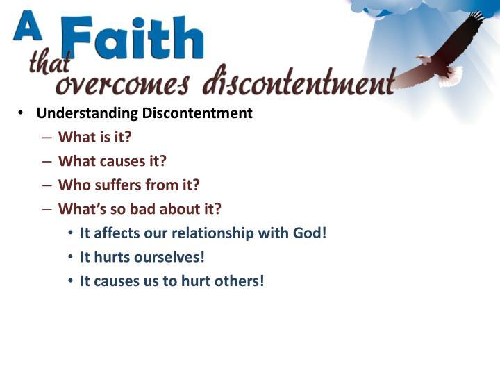 Understanding Discontentment