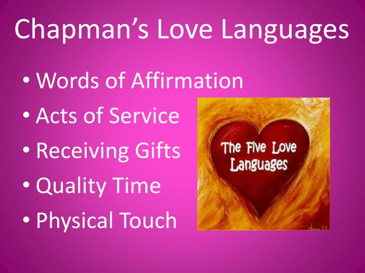 Chapman s love languages