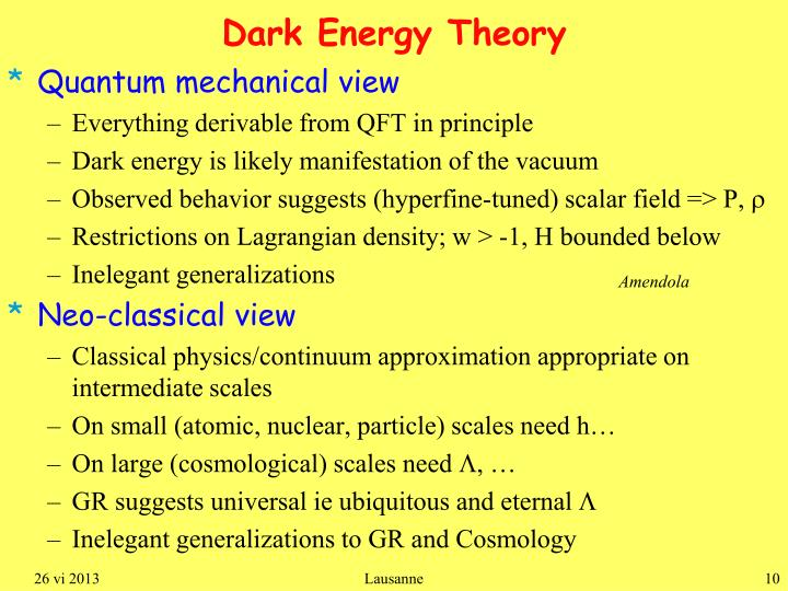Dark Energy Theory